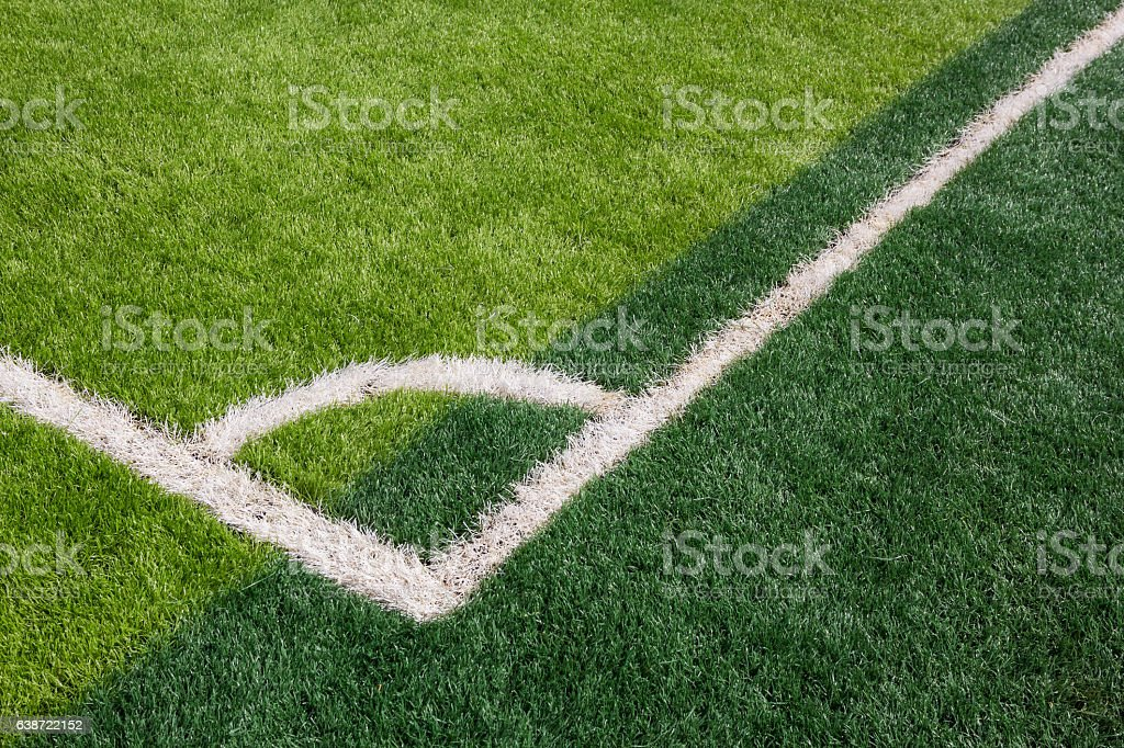 Green grass texture in soccer Field stock photo