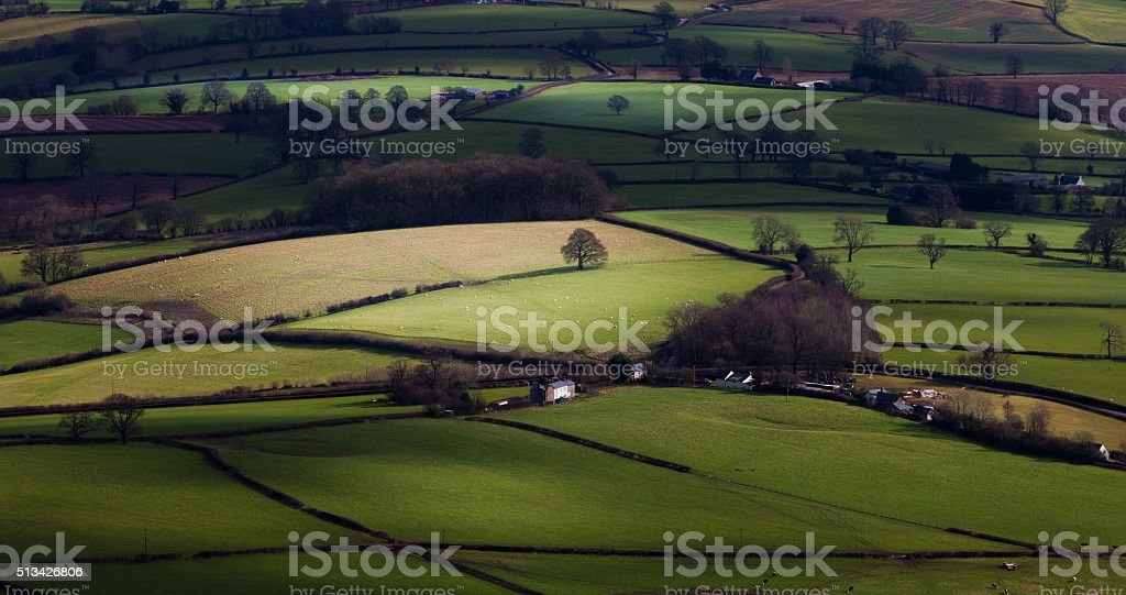 Green green grass of Wales stock photo