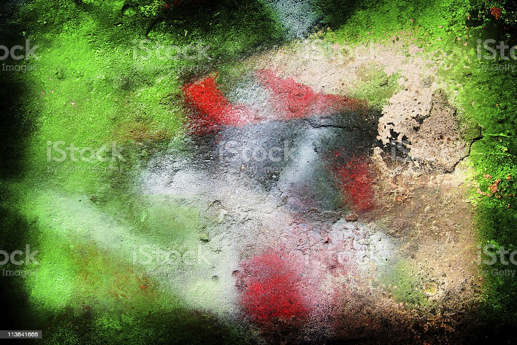 Green grunge background with a frame stock photo