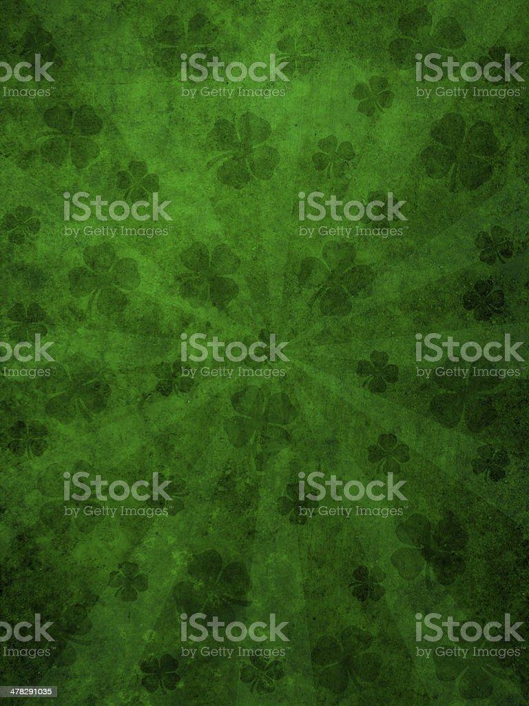 Green grunge background with sunburst stock photo