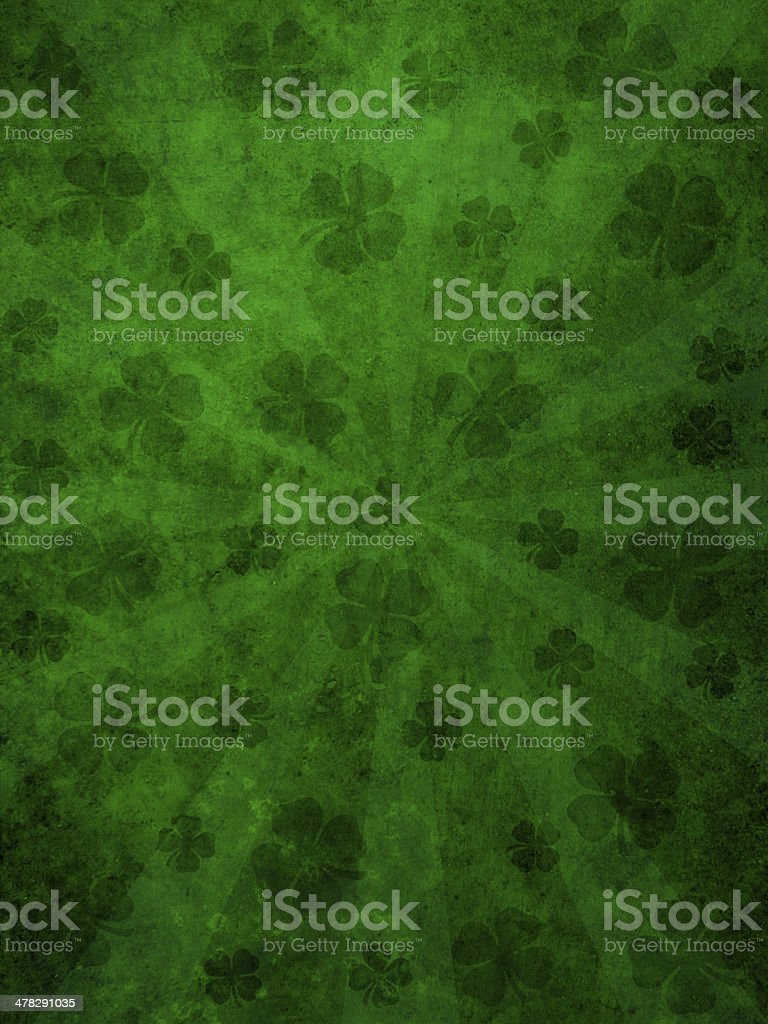 Green grunge background with sunburst stock photo