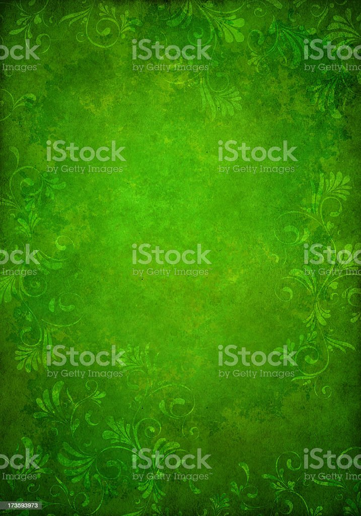 green grunge floral background royalty-free stock photo