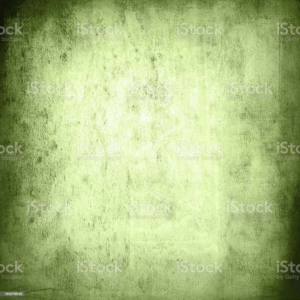 Green grungy wall texture stock photo