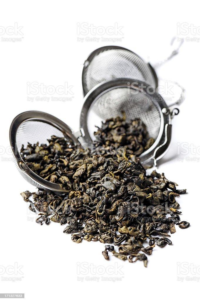 Green Gunpowder tea. stock photo