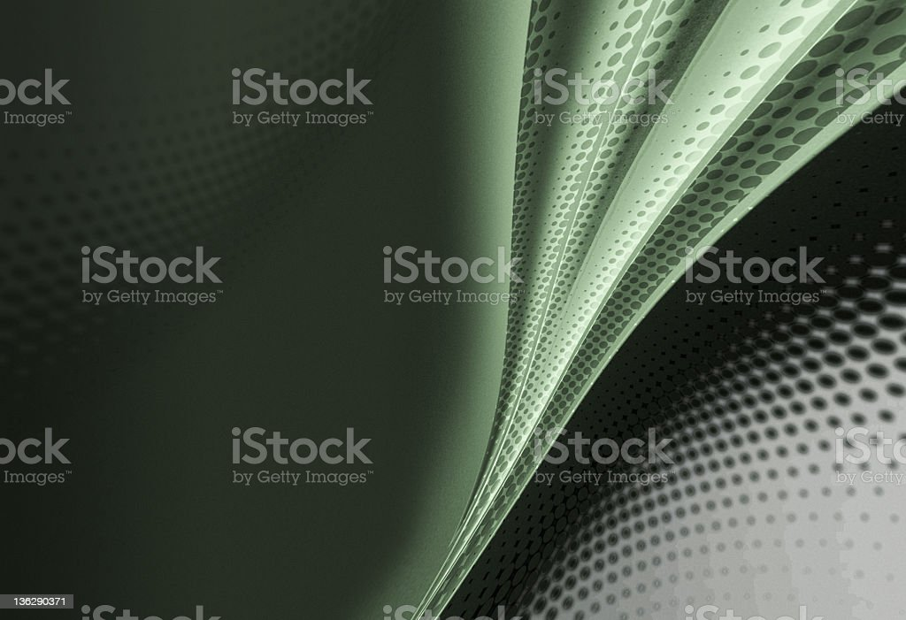 Green Halftone Abstract Wave royalty-free stock photo