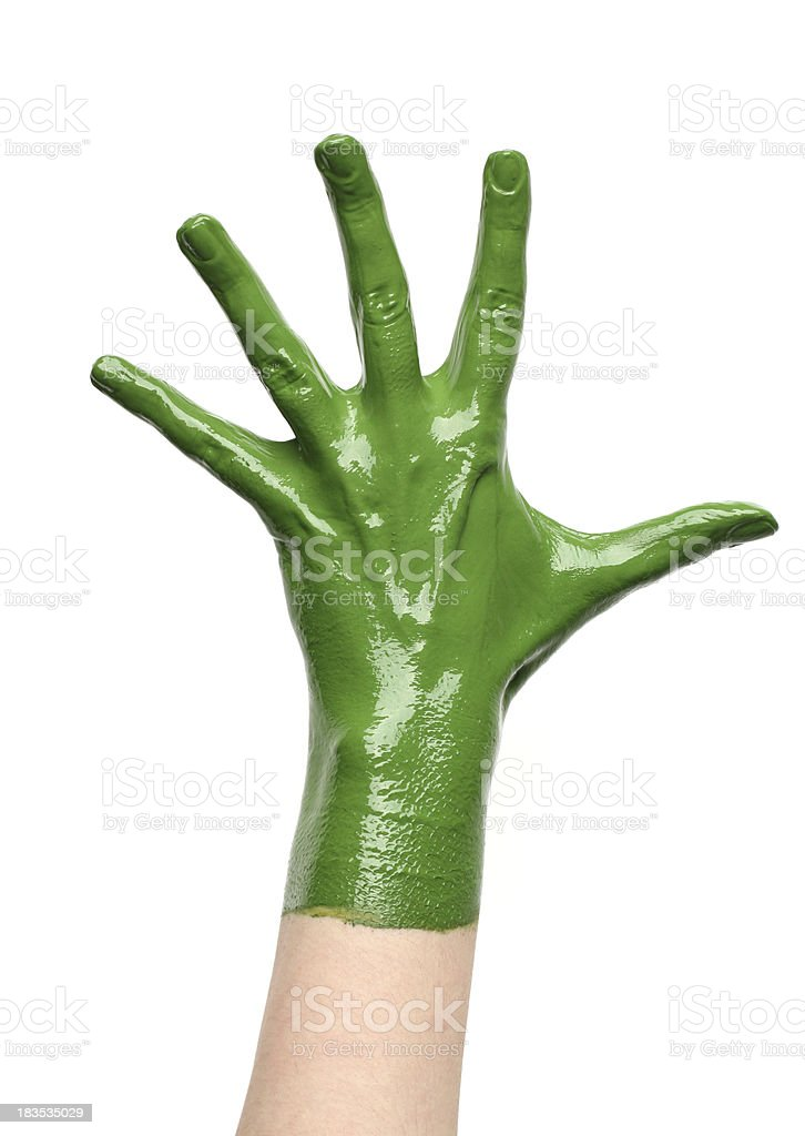 green hand royalty-free stock photo
