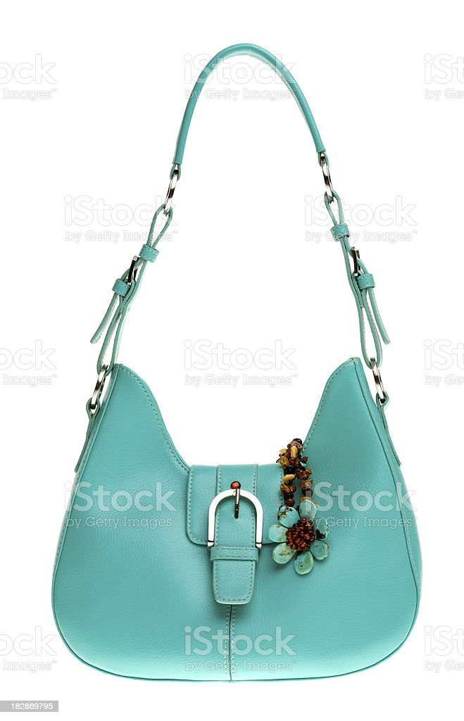 green handbag royalty-free stock photo