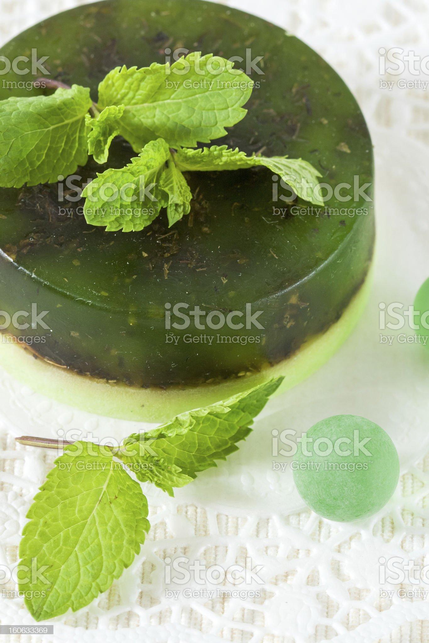 Green handmade soap royalty-free stock photo