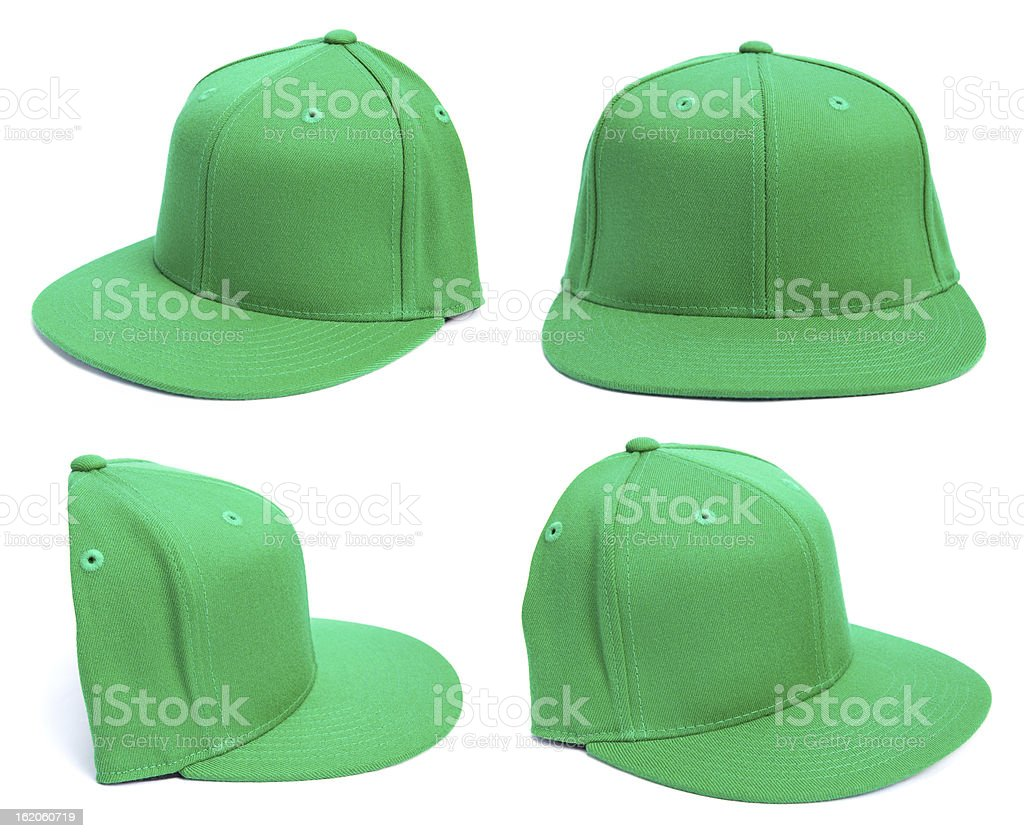 Green Hat at Different Angles stock photo