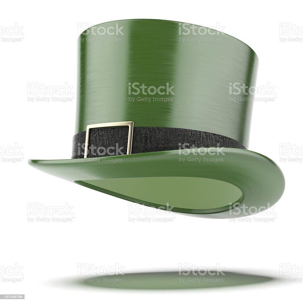 Green hat. Saint Patricks day royalty-free stock photo