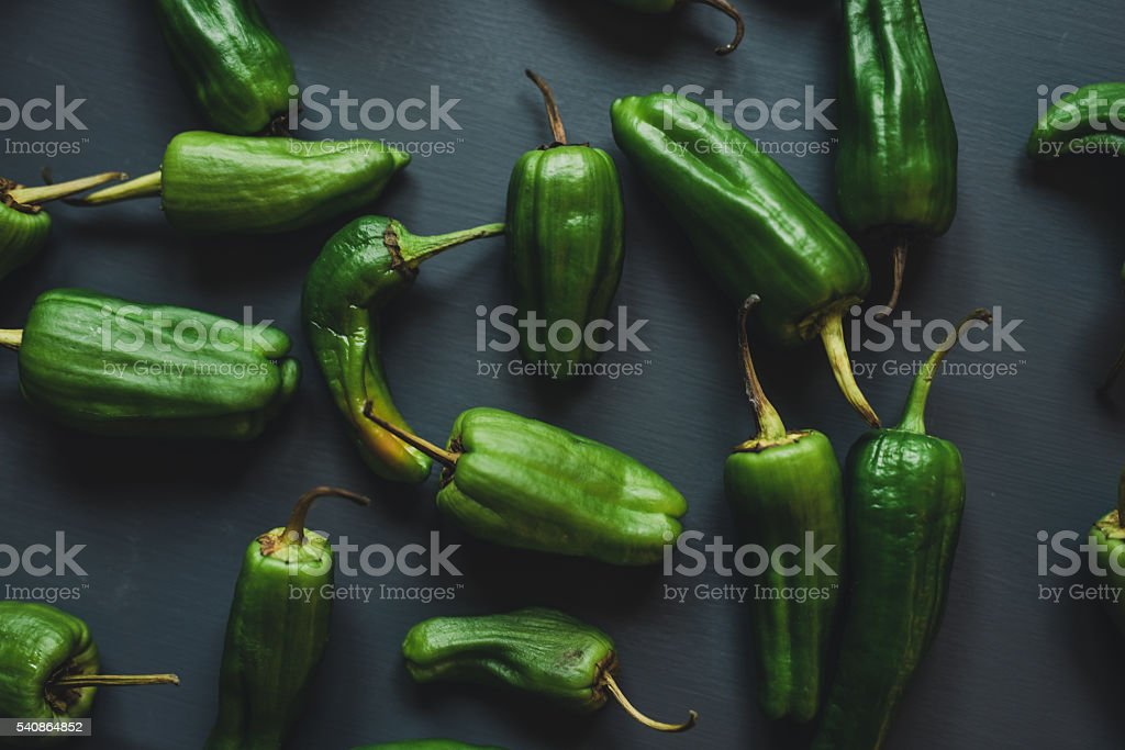 Green hatch chile food photography stock photo