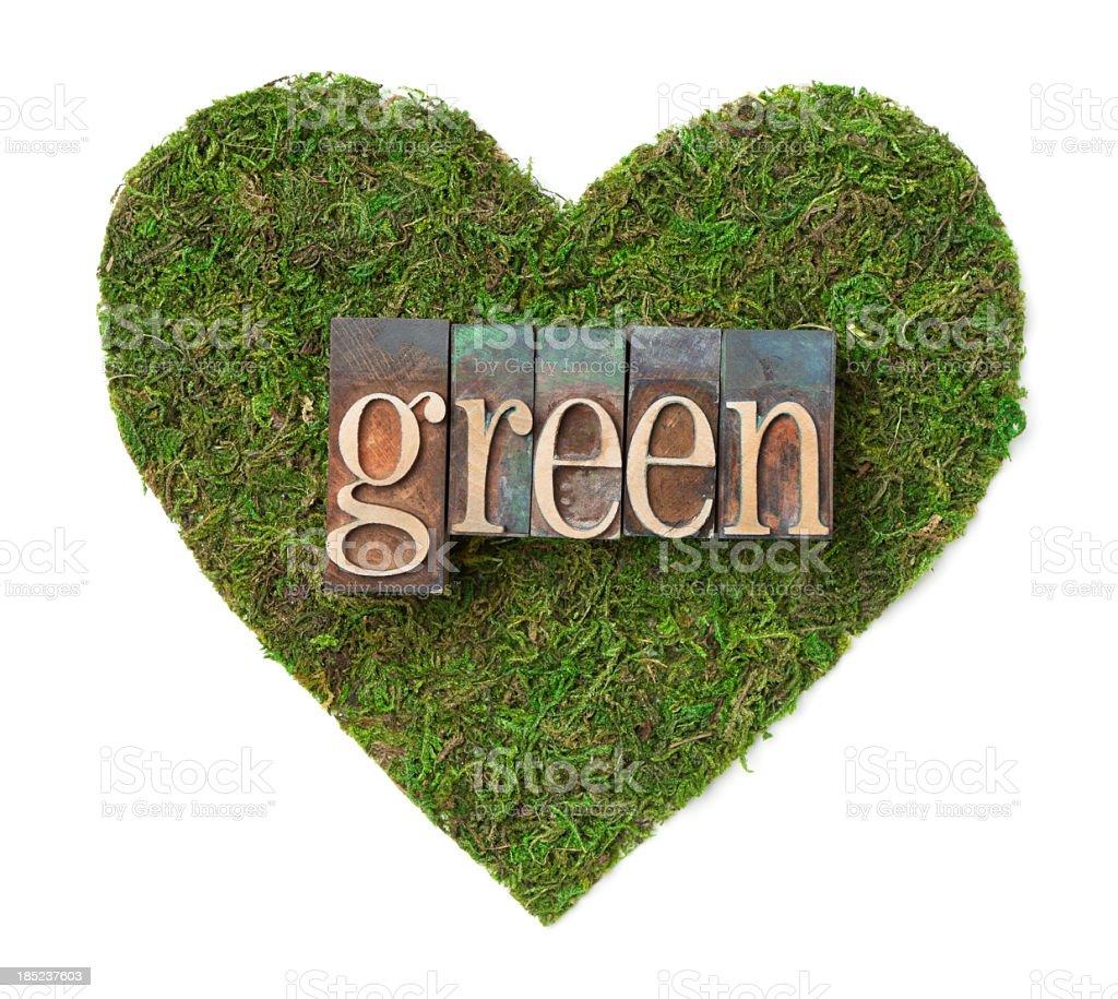Green heart royalty-free stock photo