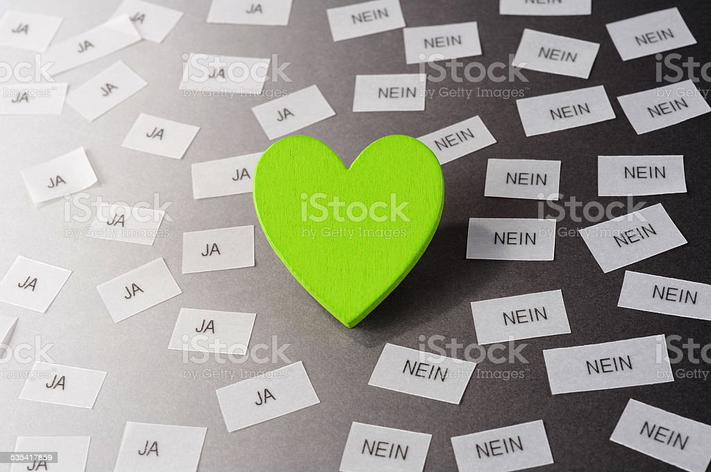 green heart stock photo