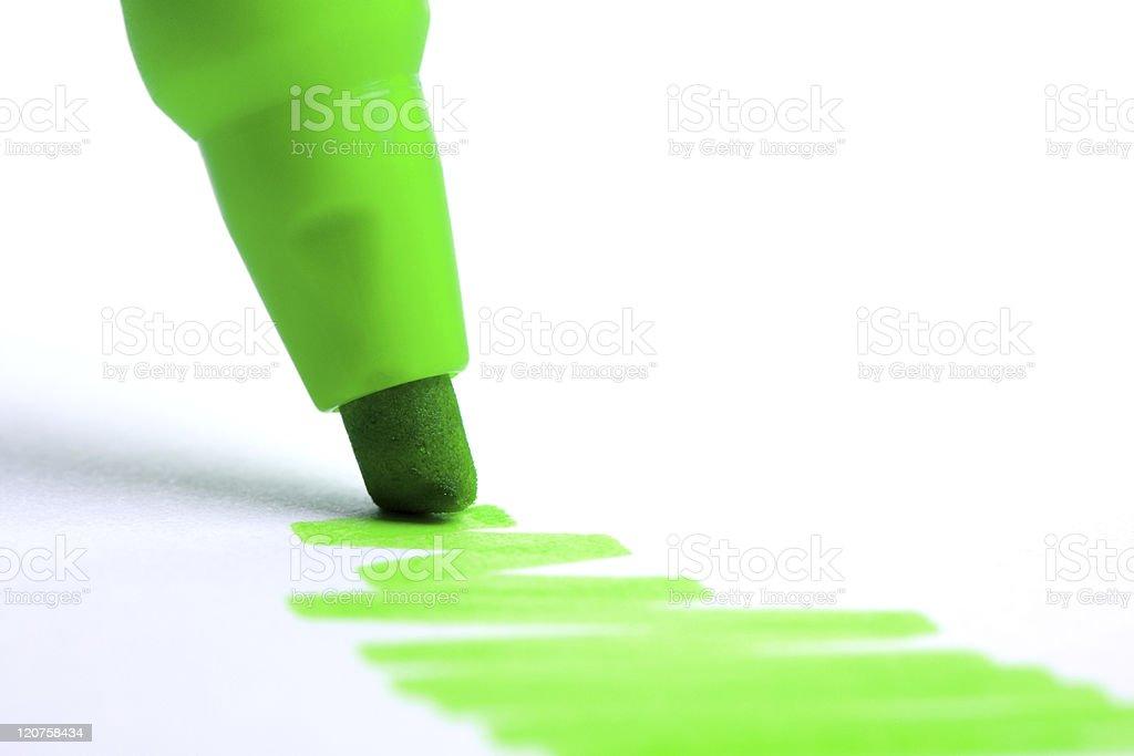 Green highlighter stock photo