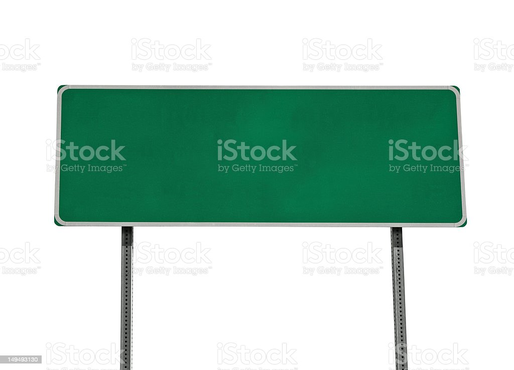 Green Highway Sign Isolated stock photo