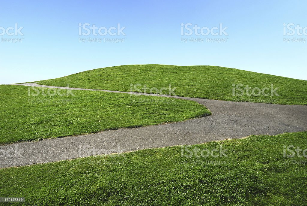 Green Hill and Blue Sky royalty-free stock photo