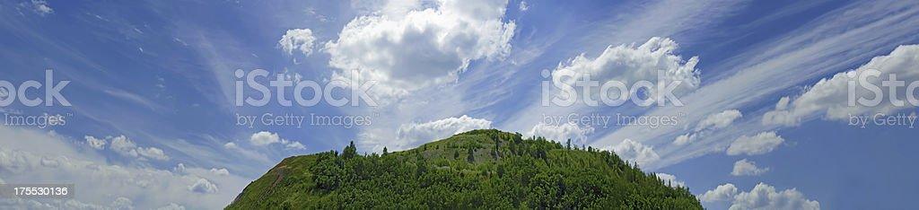 Green hill panorama royalty-free stock photo