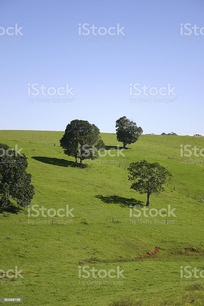 green hill pasture blue sky royalty-free stock photo