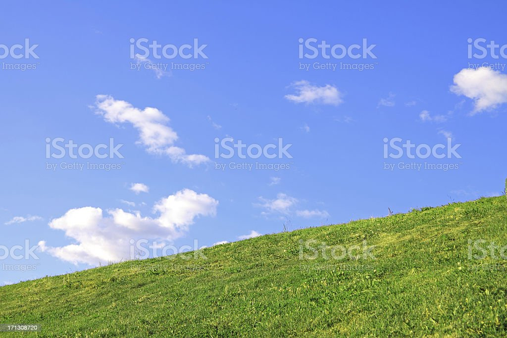 Green Hill stock photo