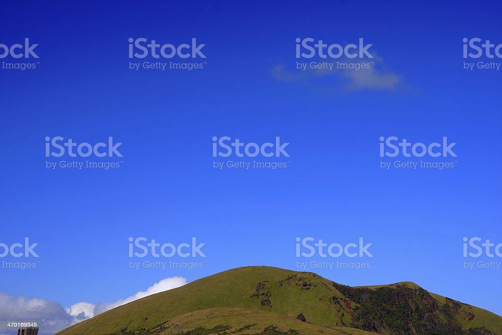 Green hill stock photo