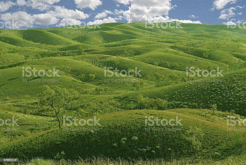 green hills, blue sky royalty-free stock photo