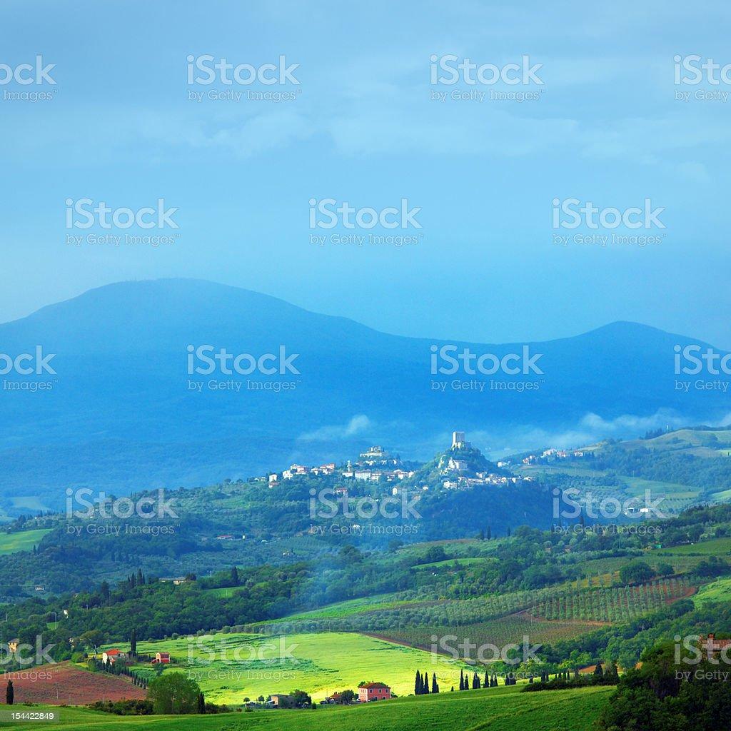 Green hills of Tuscany royalty-free stock photo