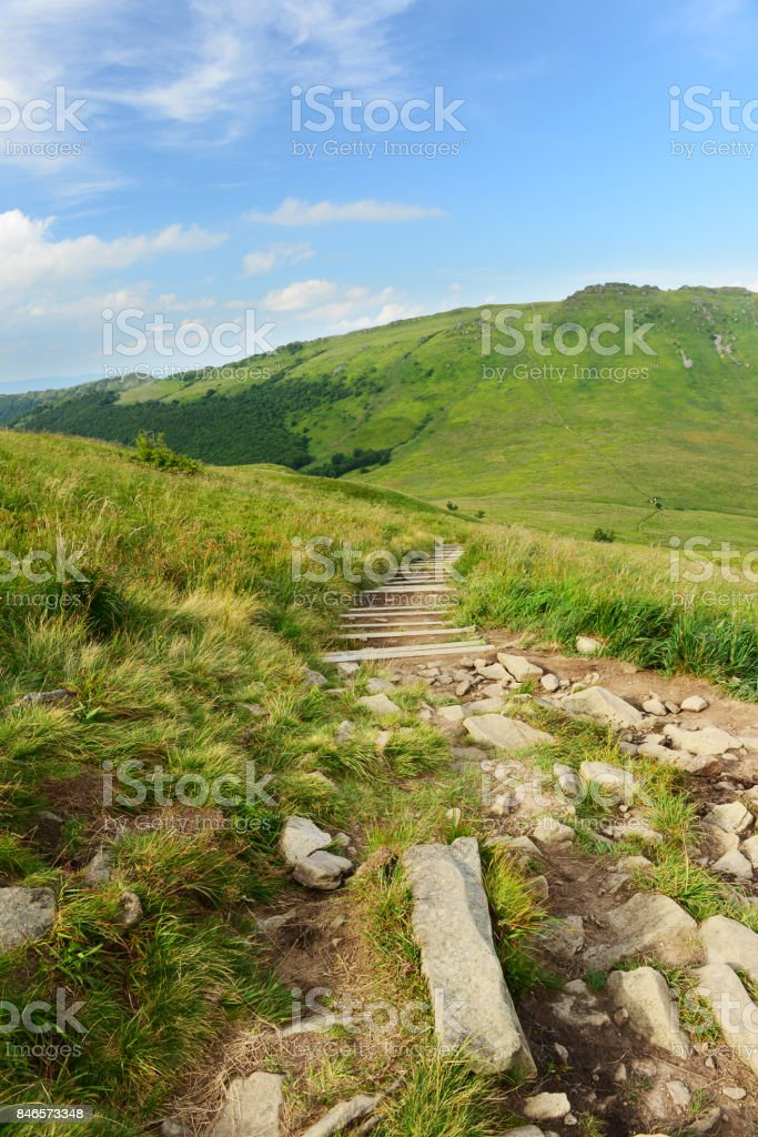 Green hills stock photo