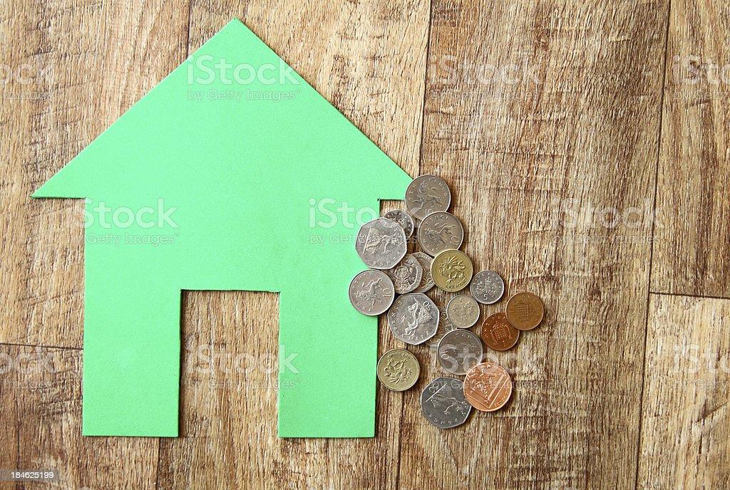 Green home savings royalty-free stock photo