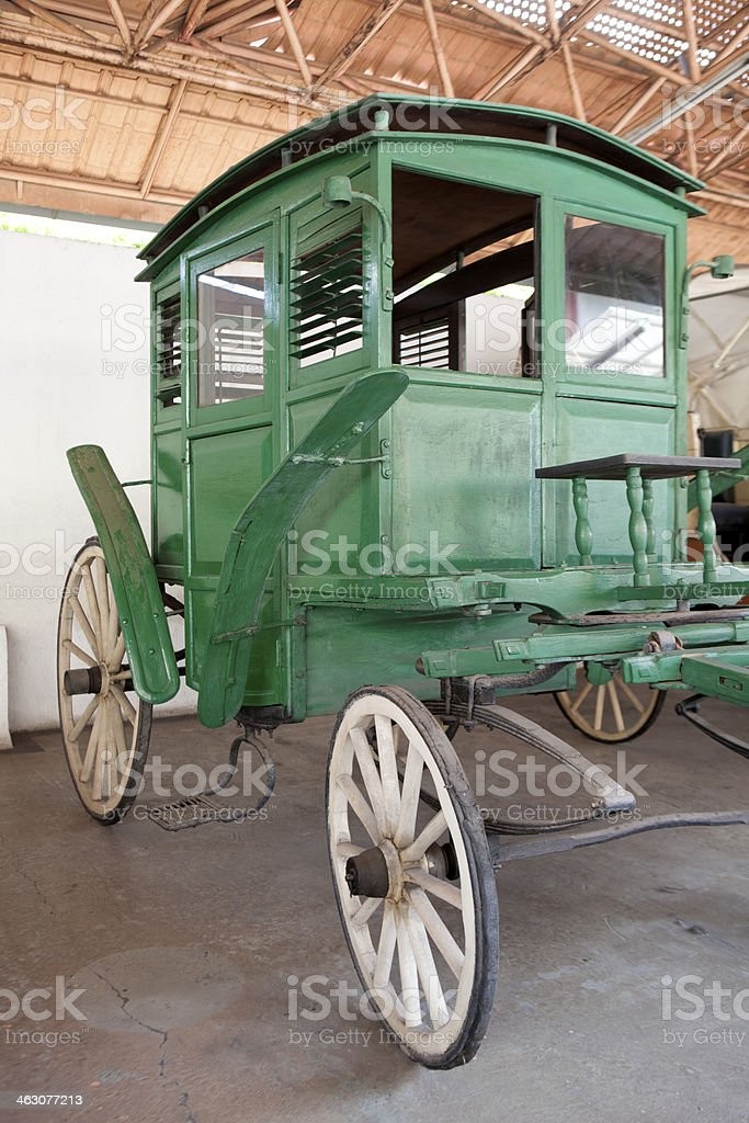Green Horse Buggy stock photo