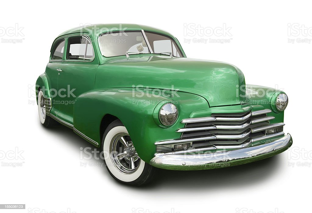 Green Hot Rod stock photo