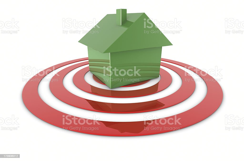 Green House On Target royalty-free stock photo