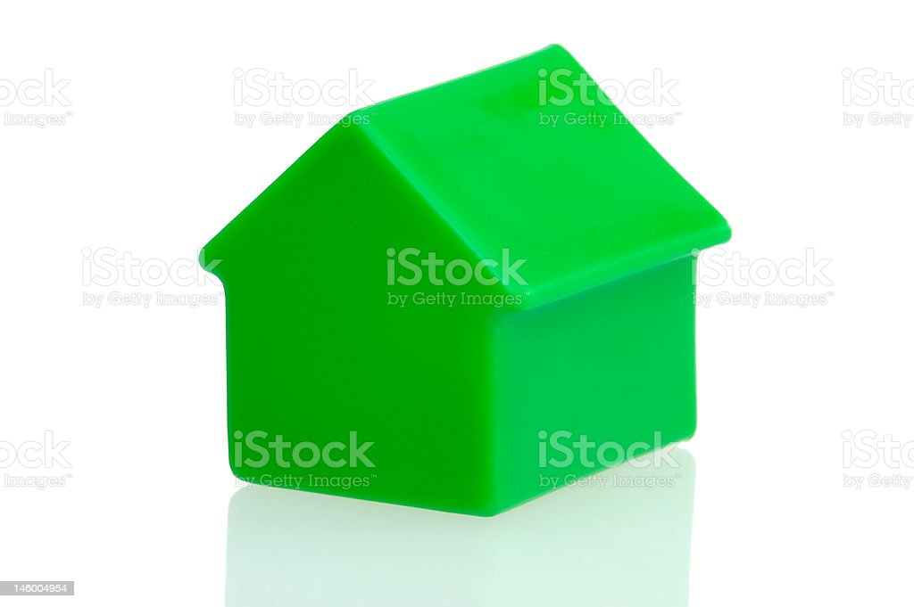 Green house on white background. royalty-free stock photo