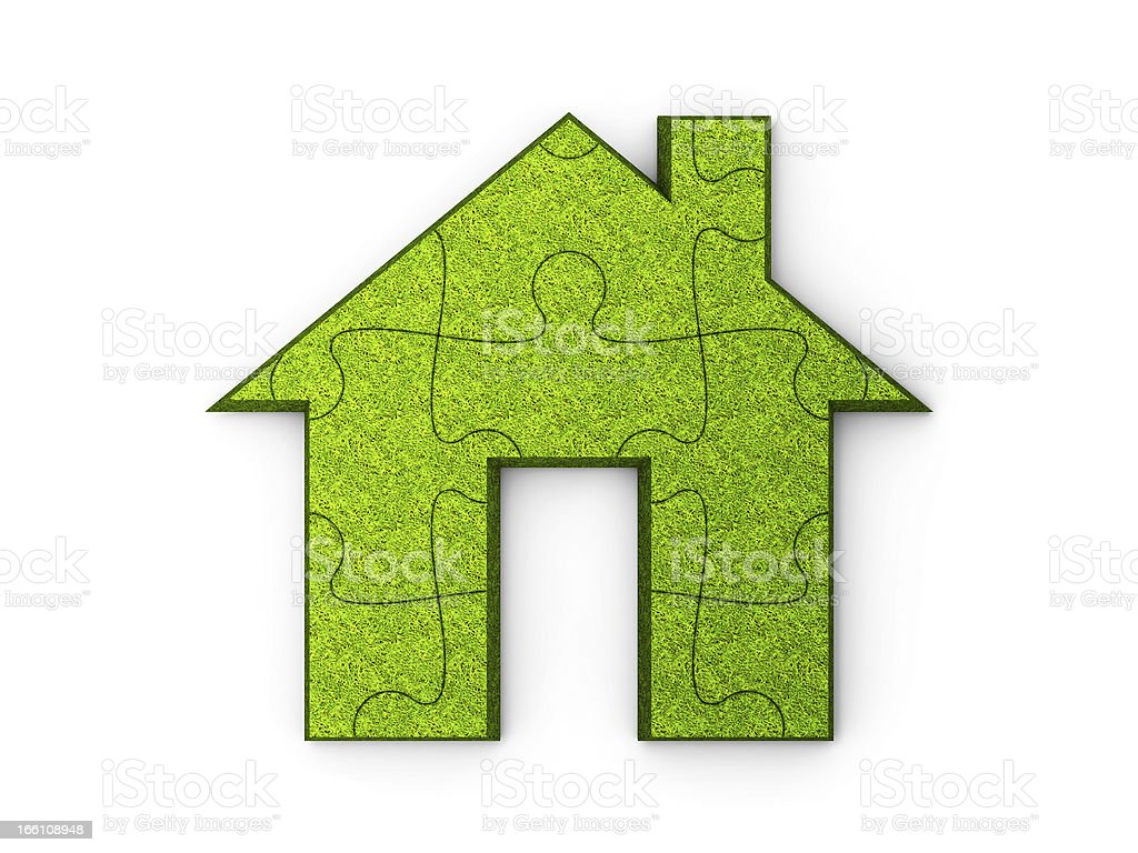 Green house puzzle royalty-free stock photo