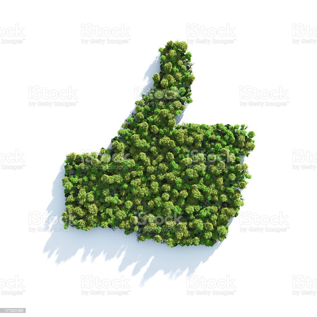 Green I Like royalty-free stock photo