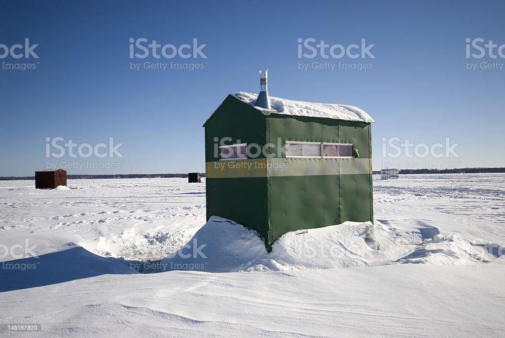 Green Ice Shack royalty-free stock photo
