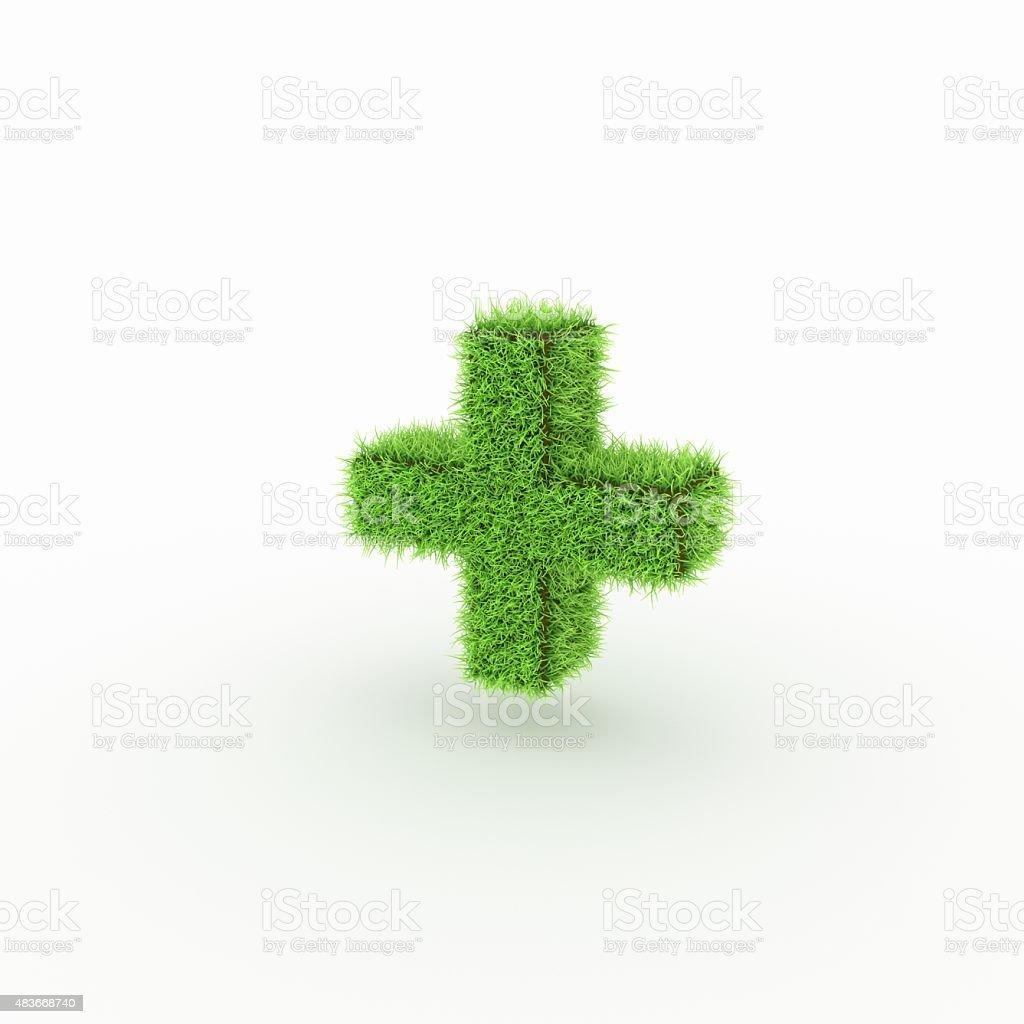 Green Icon - plus, add stock photo