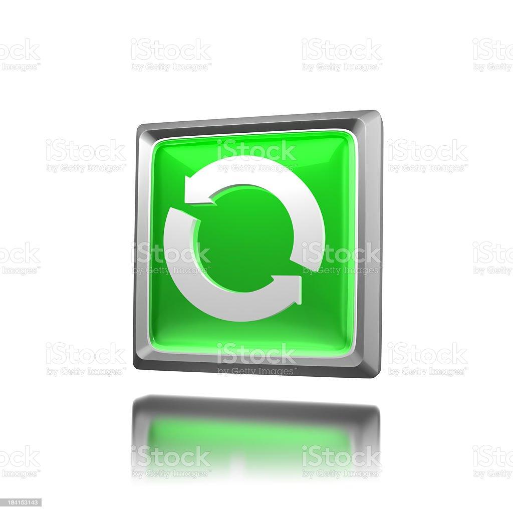 Green Icon - Update stock photo