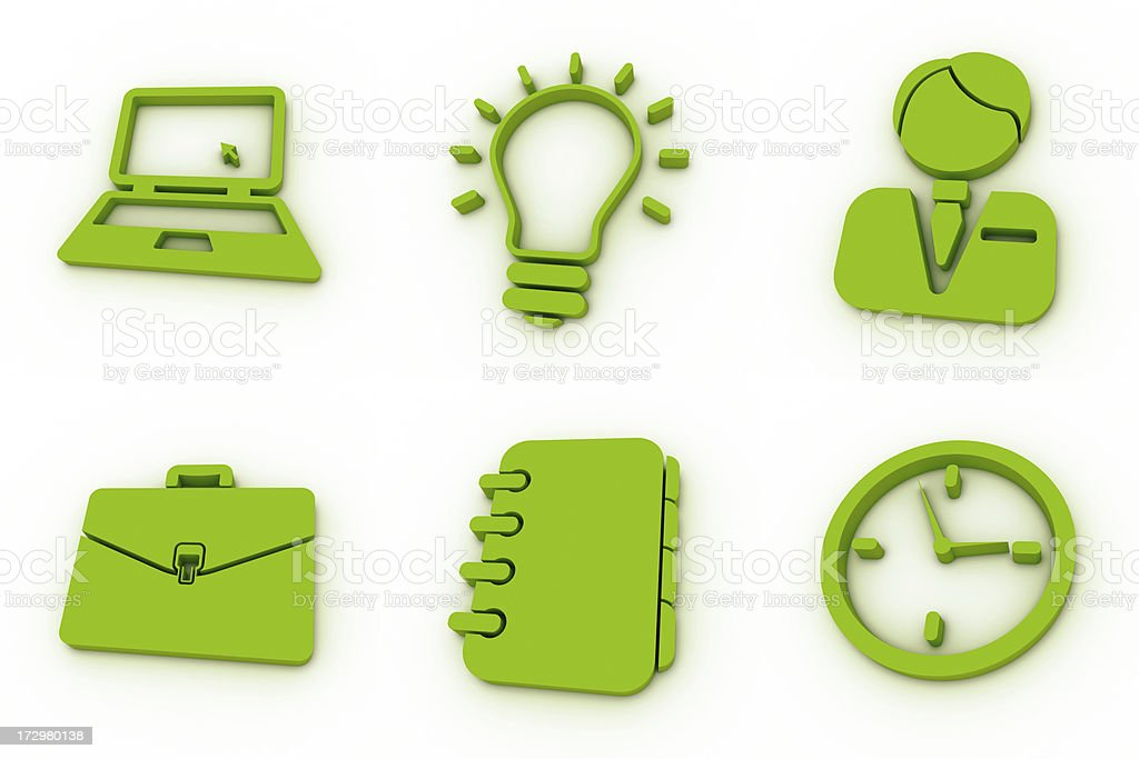 green icons - business royalty-free stock photo