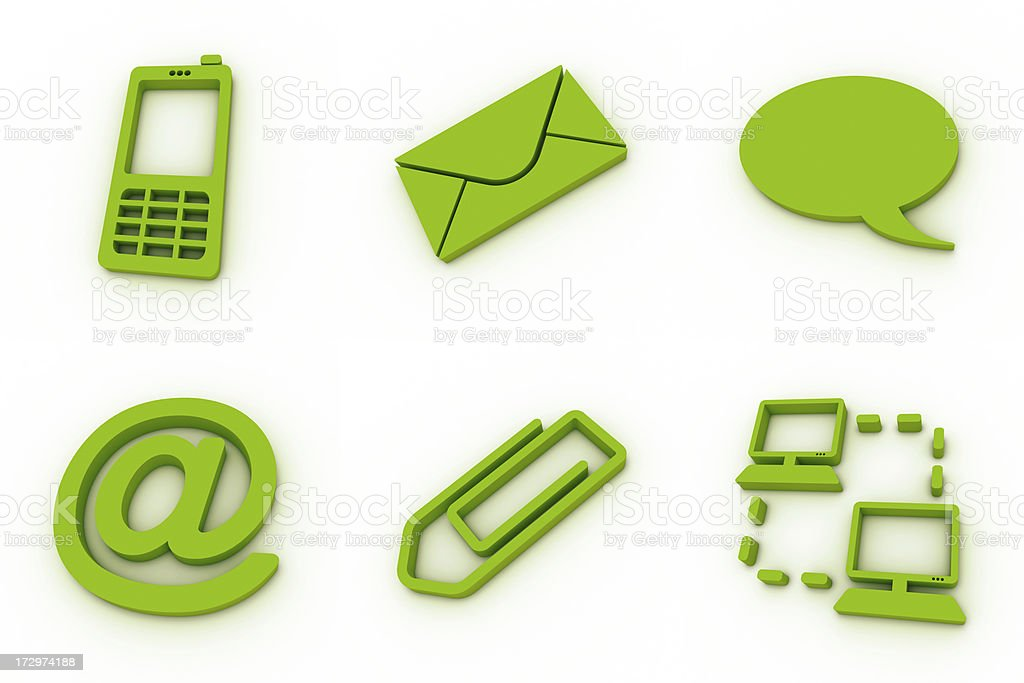 green icons - communication royalty-free stock photo