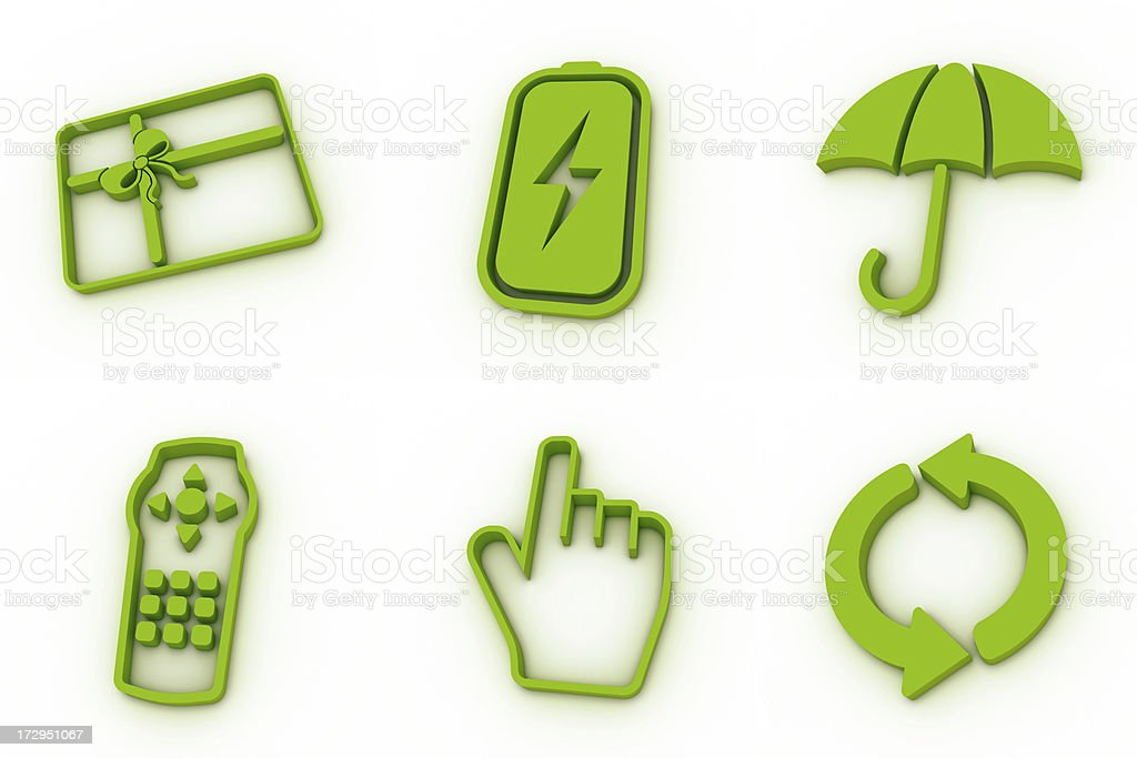 green icons - mixed royalty-free stock photo