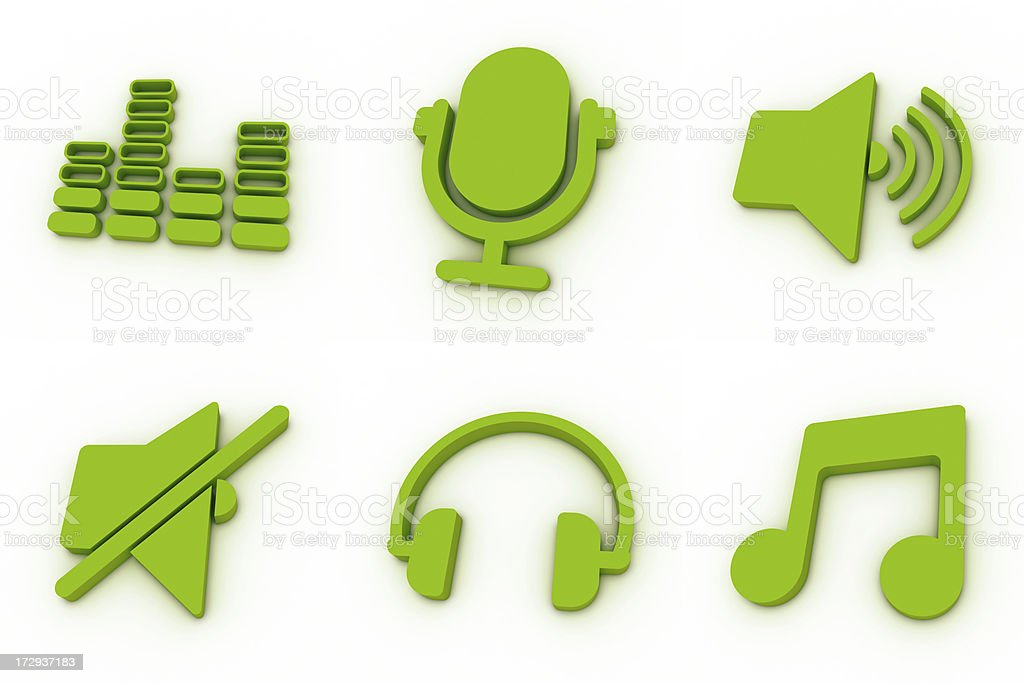 green icons - music royalty-free stock photo