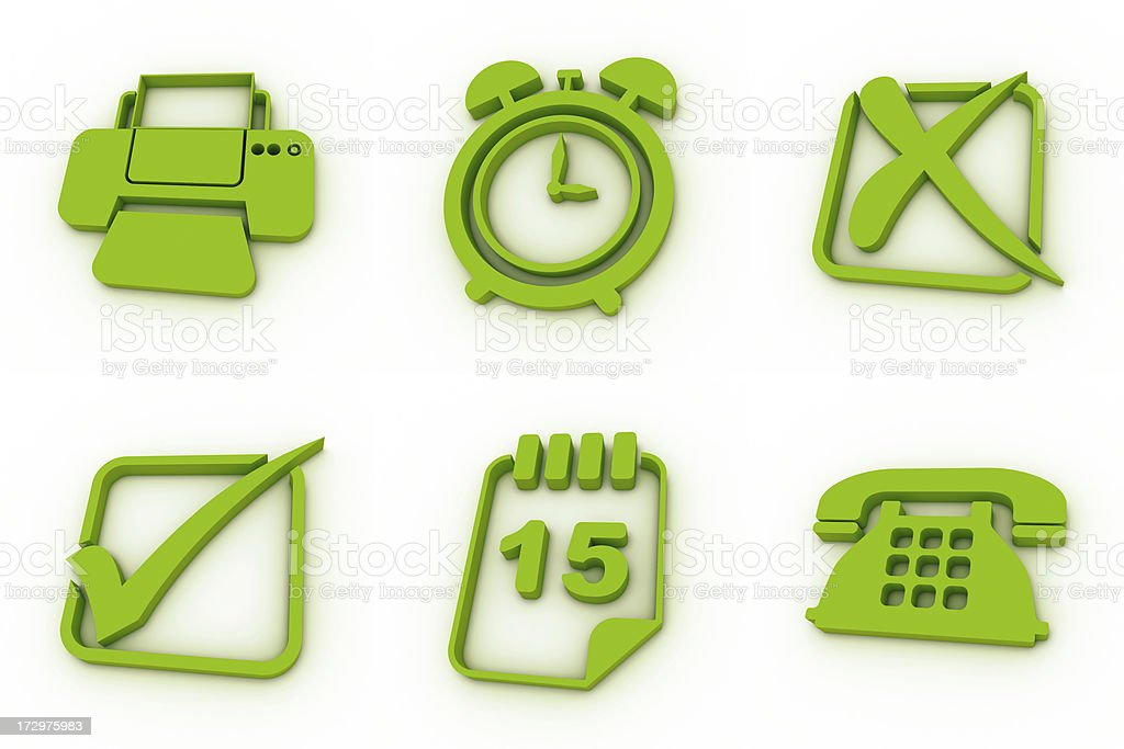 green icons - office royalty-free stock photo
