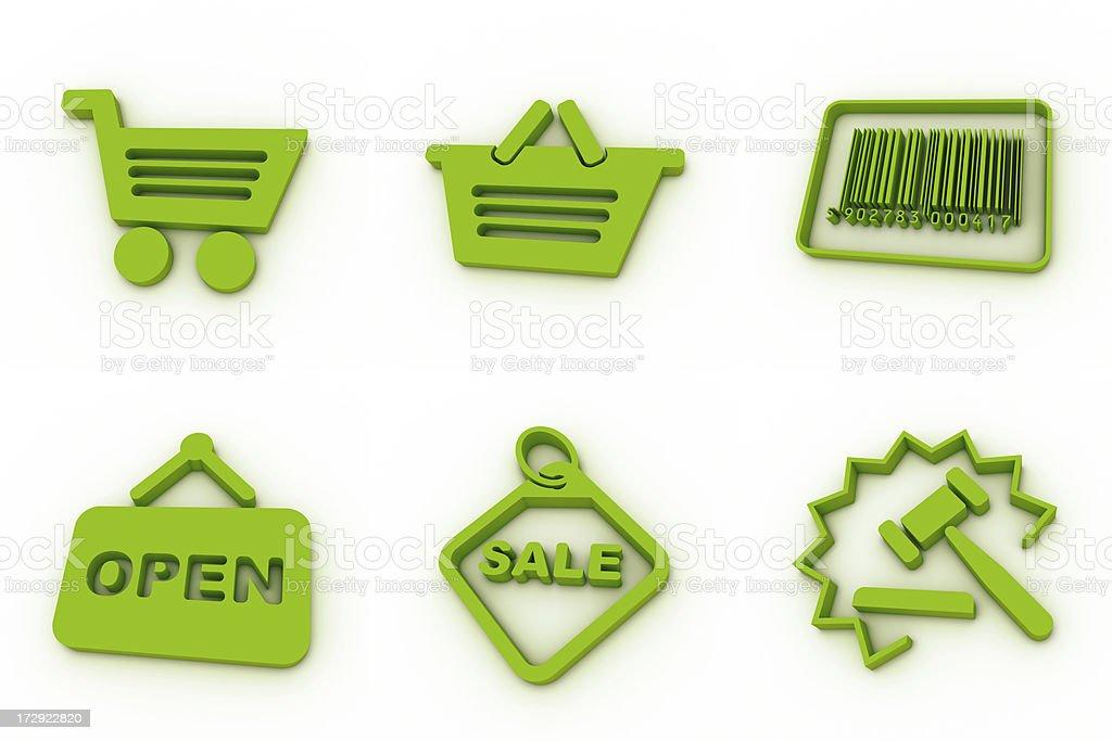 green icons - shopping royalty-free stock photo