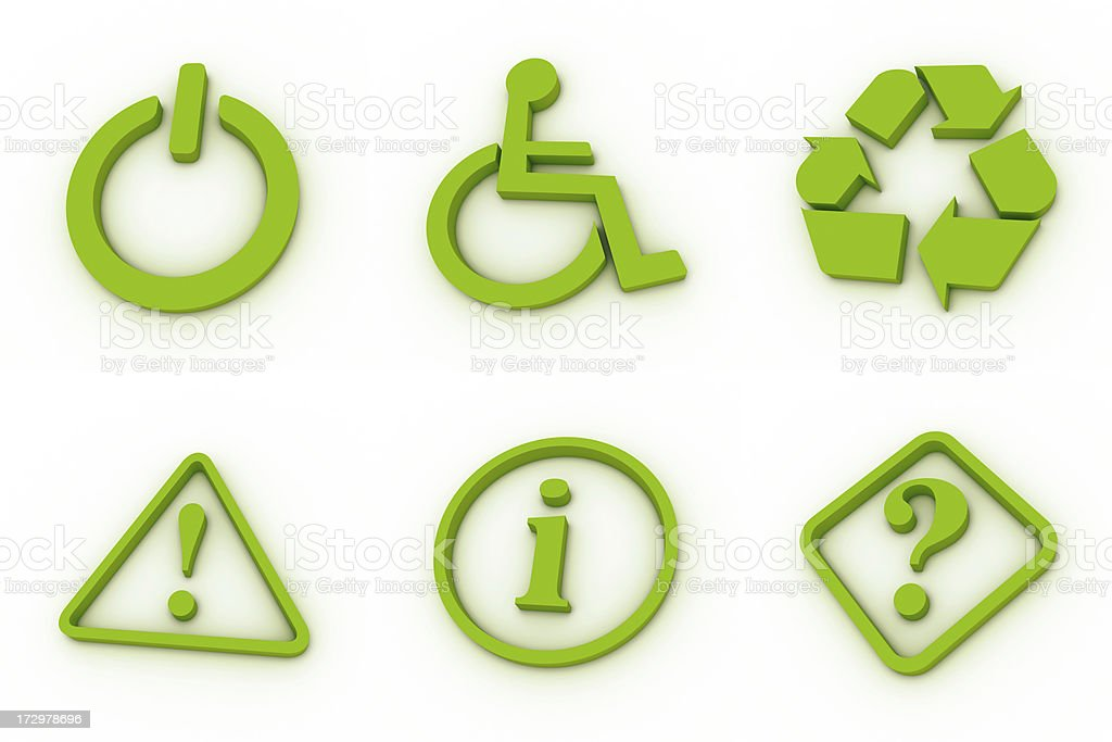 green icons - signs royalty-free stock photo