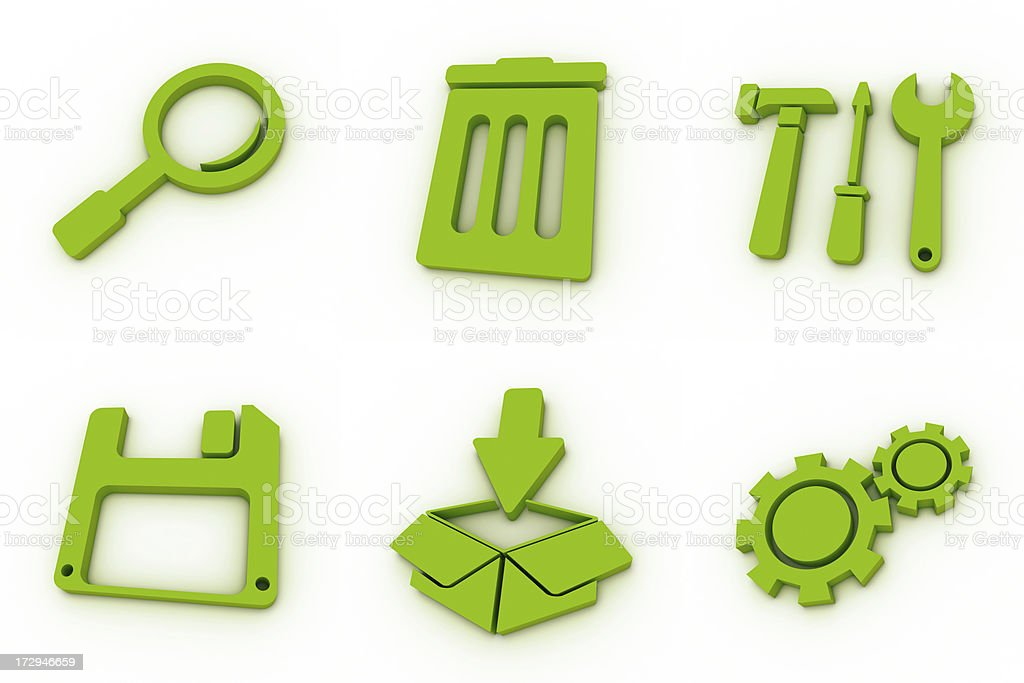 green icons - system royalty-free stock photo