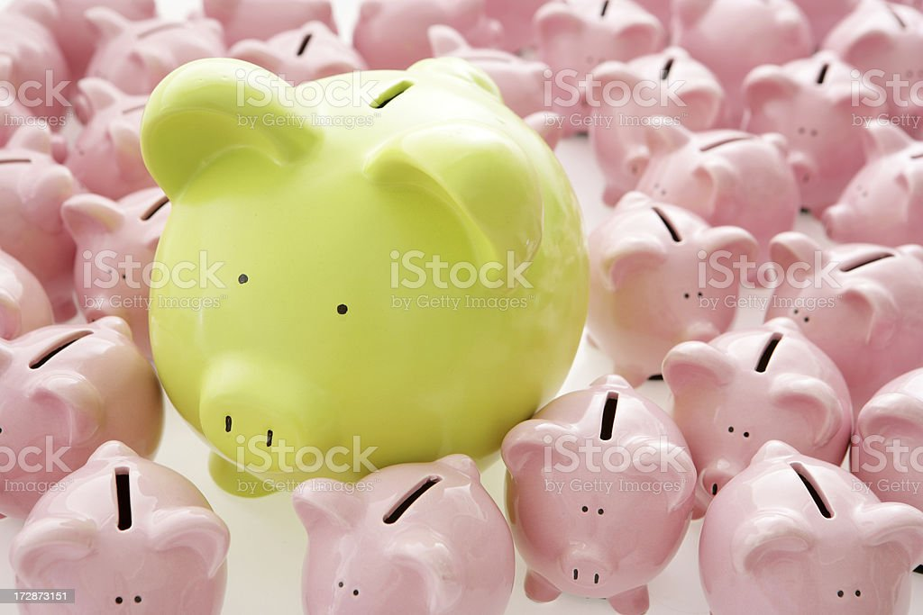 Green in the Crowd royalty-free stock photo