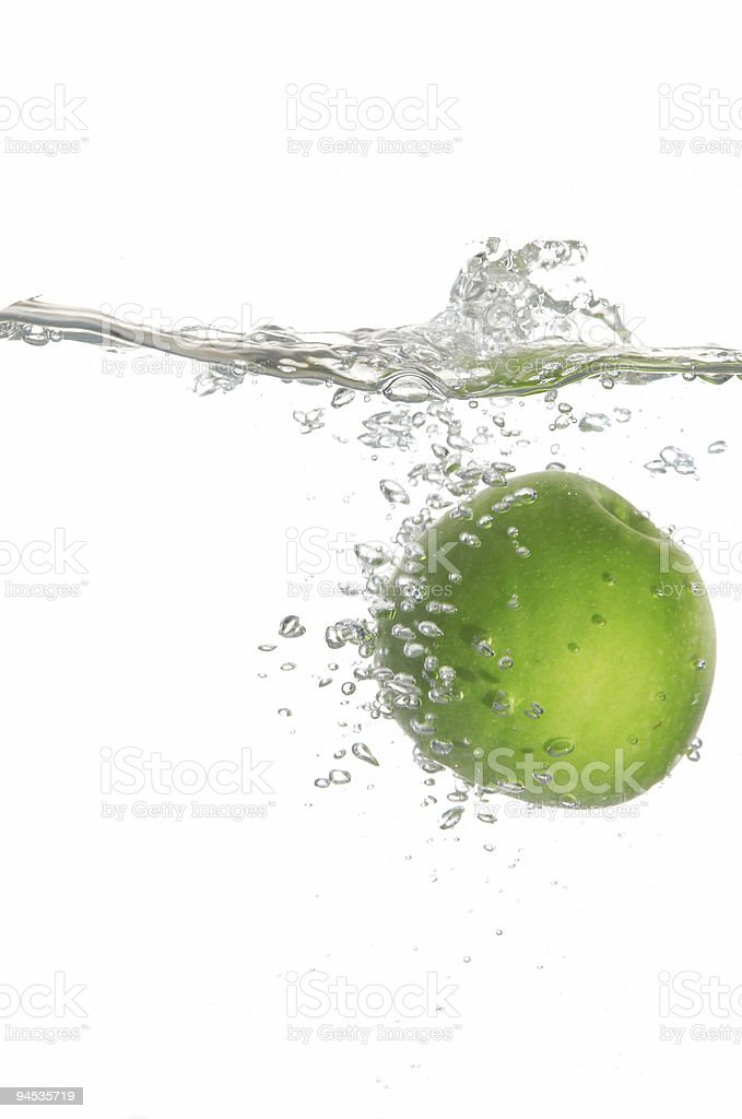 Green in water royalty-free stock photo