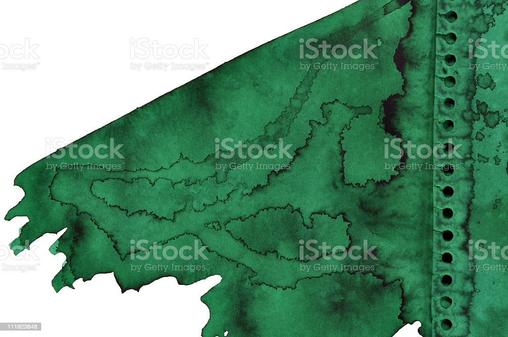 Green ink stock photo