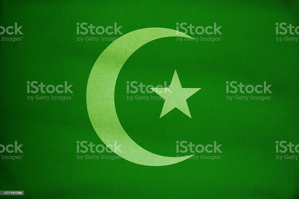 green islam flag stock photo