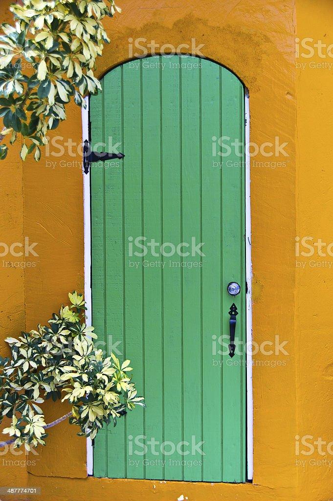 Green  Island door stock photo